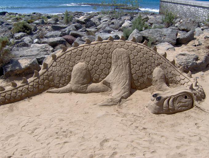 Playa de Maspalomas - Drago di sabbia (Fonte http://www.flickr.com/photos/mirna_b/3247832038/)