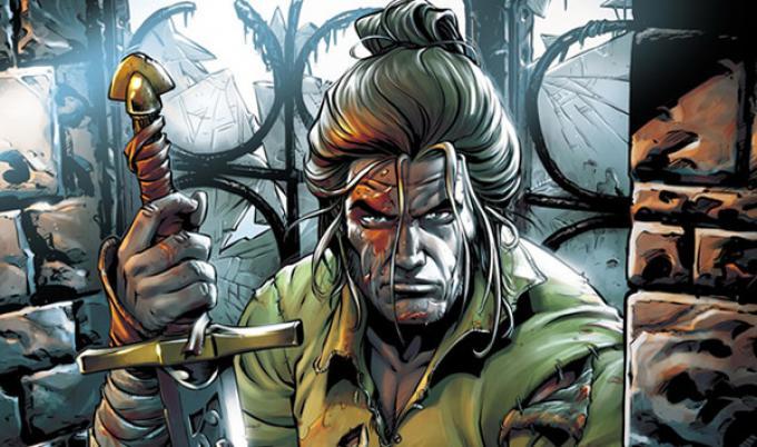 Un'immagine da Dragonero che ne raffigura il protagonista Ian