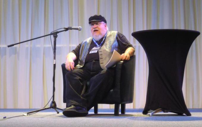 George R.R. Martin alla Sasquan science-fiction di Spokane. (Foto di Alan Boyle)