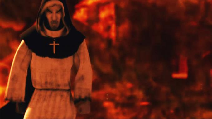 Uno screenshot da Nicolas Eymerich, Inquisitore - Capitolo II: Il Villaggio