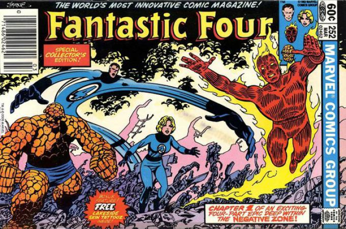 Fantastic Four 252 - Disegno di John Byrne