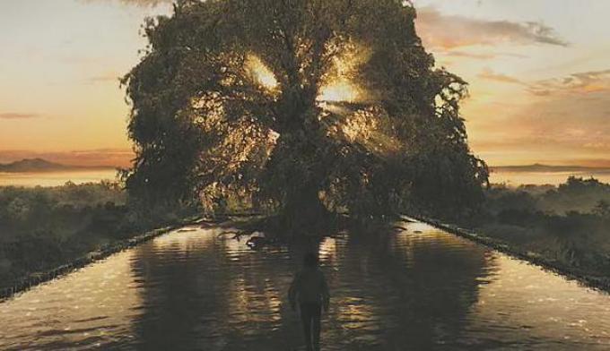 Un'immagine tratta dal trailer di The Fountain