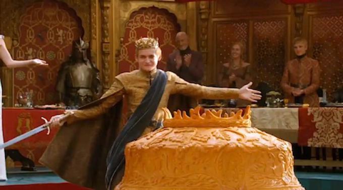 Un'immagine del matrimonio reale dal secondo episodio della quarta stagione di Game of Thrones