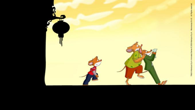 Un'avventurosa sequenza del cartone animato