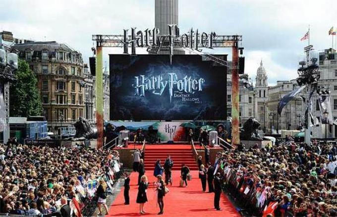 Trafalgar Square alla World Premiere dell'11 luglio scorso a Londra