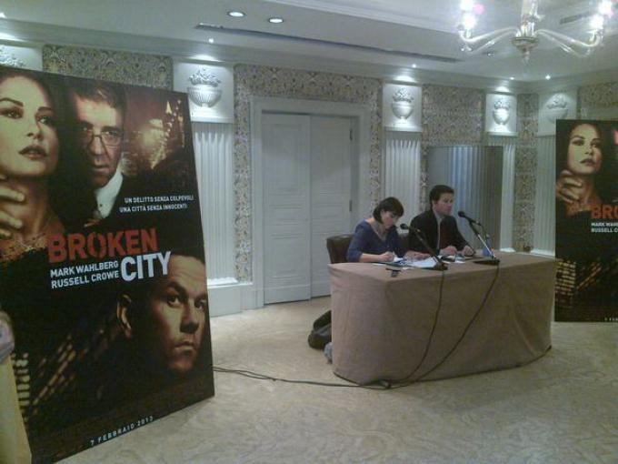 Mark Wahlberg alla conferenza stampa per Broken City
