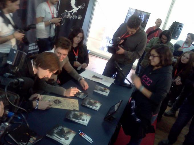 James e Oliver Phelps alla sessione autografi di Lucca Games 2011