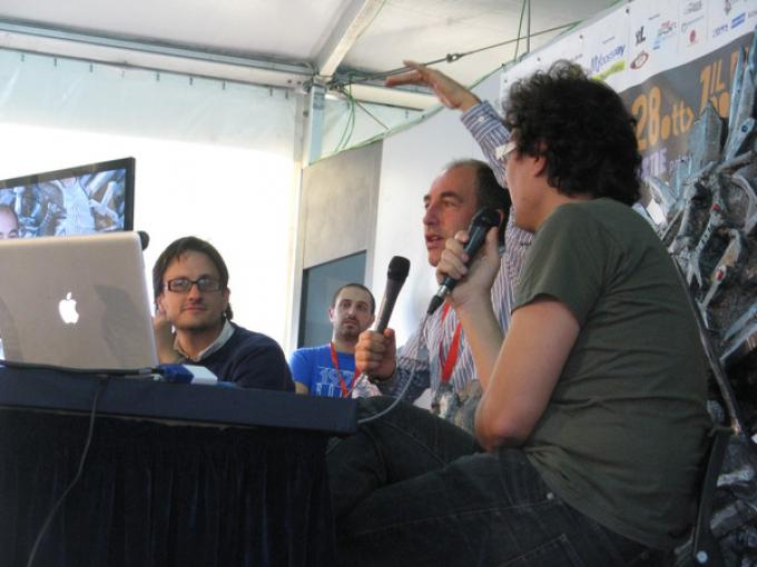 Al centro, Marco Pontecorvo in Sala Ingellis