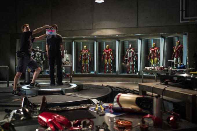 Foto scattata sul set di Iron Man 3