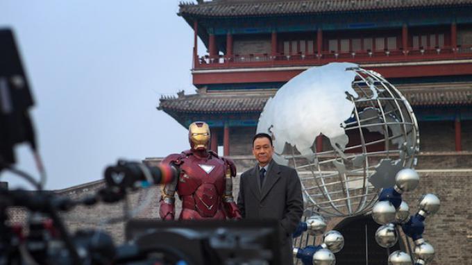 Iron man insieme a Wang Xueqi