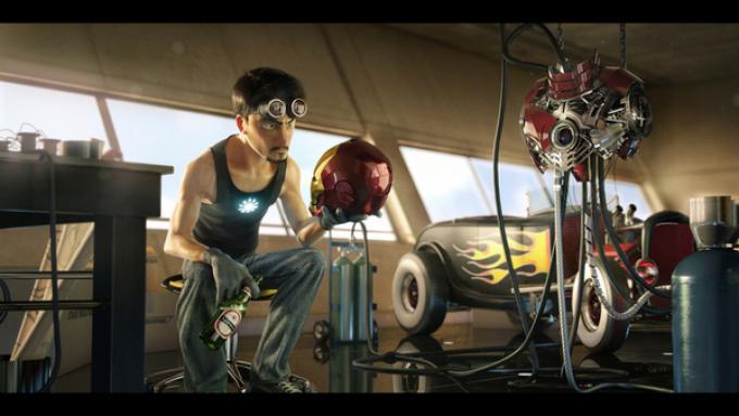 Iron Man, disegno di Victor Hugo
