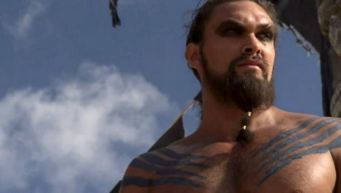 Jason Momoa è Khal Drogo in Game of Thrones
