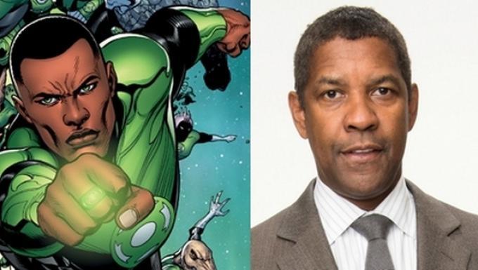 Lanterna Verde (John Stewart) e Denzel Washington
