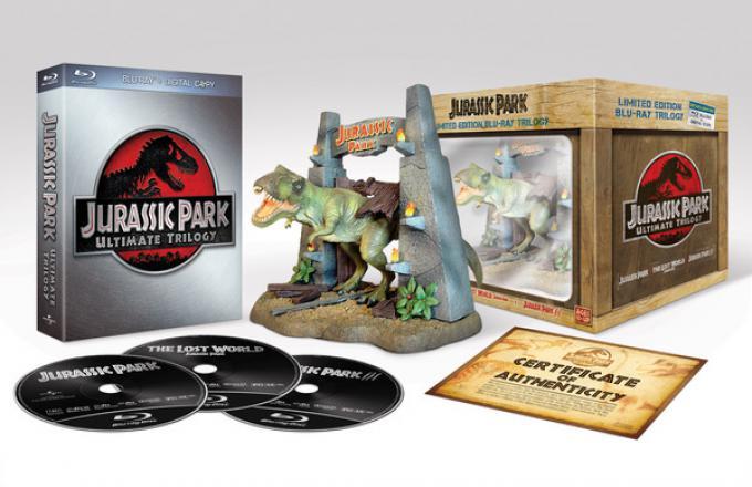 Il cofanetto in edizione limitata della trilogia di Jurassic Park.