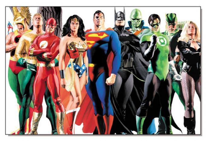 Una Justice League ricca di componenti vista dal magico pennello di Alex Ross