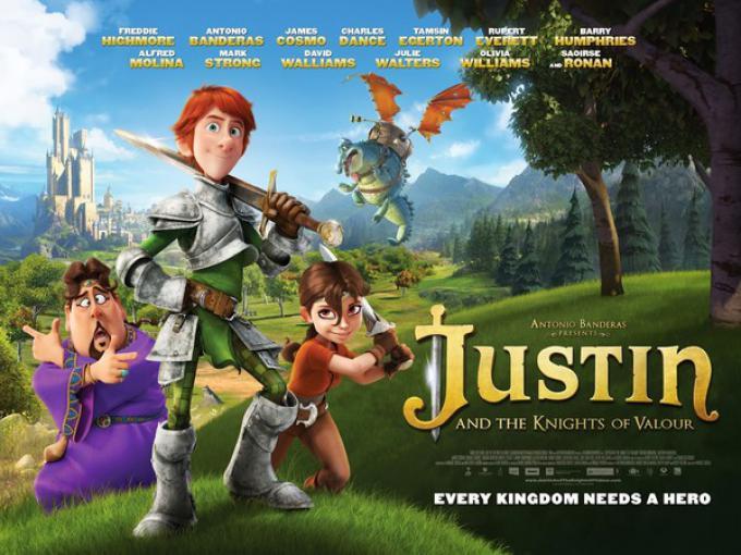 Justin e i cavalieri valorosi, la locandina internazionale