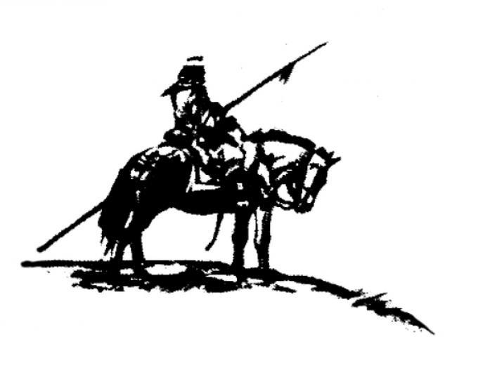 Disegno di Enrique Breccia da La guerra della Pampa