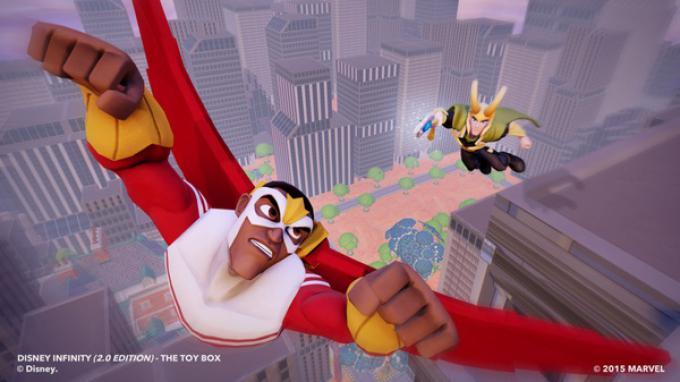Loki e Falcon in Disney Infinity 2.0: Marvel Super Heroes