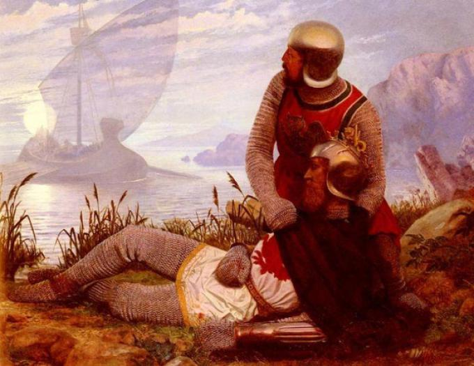 The Death of Arthur, Carrick John Mulcaster - 1862