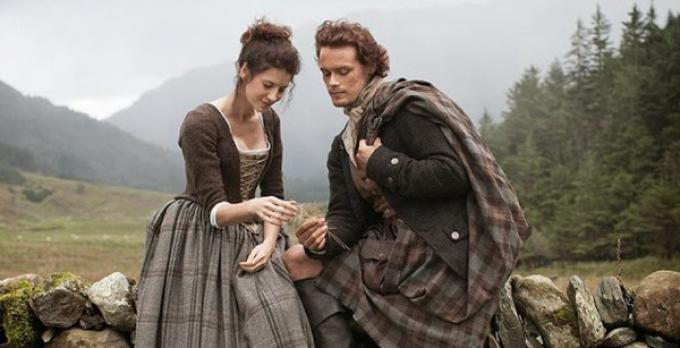 I protagonisti di Outlander, Jamie e Claire