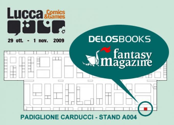 Lo stand Delos Books a Lucca Games