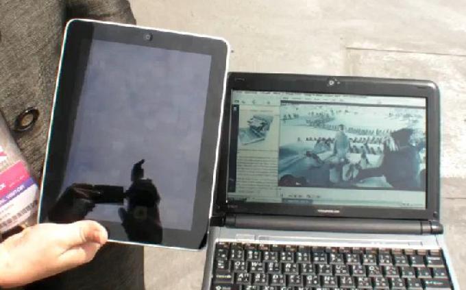 Lo schermo Pixel Qi a confronto con l'iPad