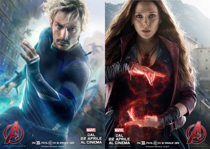 Aaron Taylor-Johnson ed Elizabeth Olsen in Avengers: Age of Ultron