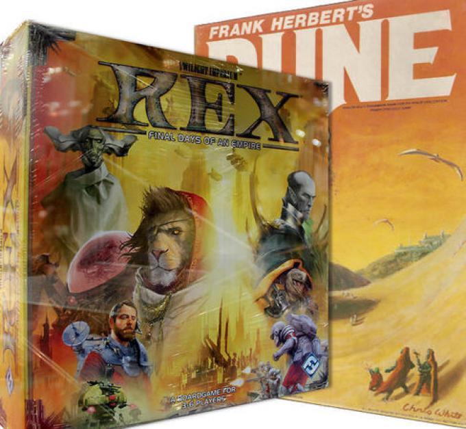 La scatola di REX (sì, l'immagine è pessima, ma è l'unica esistente...) e il vecchio Dune della EON