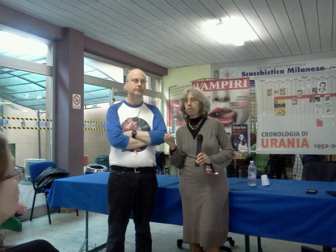 Robert J. Sawyer e Annarita Guarnieri ai DelosDays di Milano