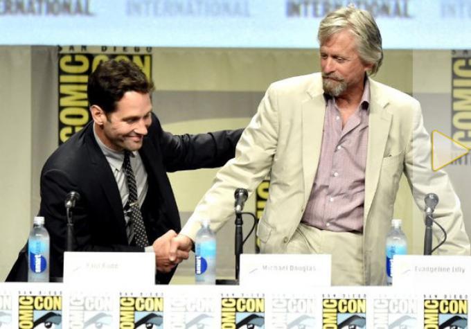 Paul Rudd e Michael Douglas alla Comic-Con 2014 - Photo di Kevin Winter - © 2014 Getty Images