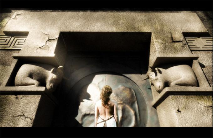Una delle scenografie virtuali di Sacro Codice