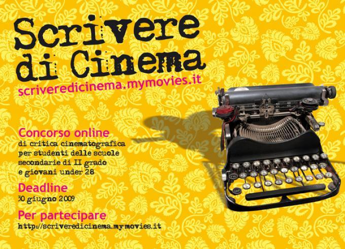 La cartolina del concorso Scrivere di Cinema 2009