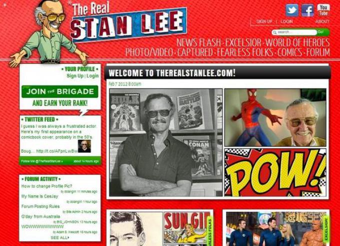 The Real Stan Lee, il sito ufficiale