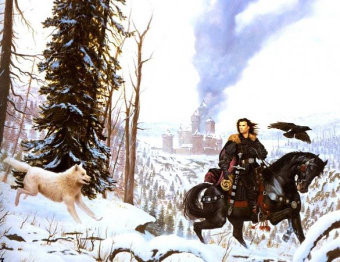 L'illustrazione di Stephen Youll per la copertina americana di <i>A game of Thrones</i>