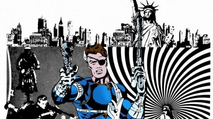Nick Fury in un disegno di Jim Steranko