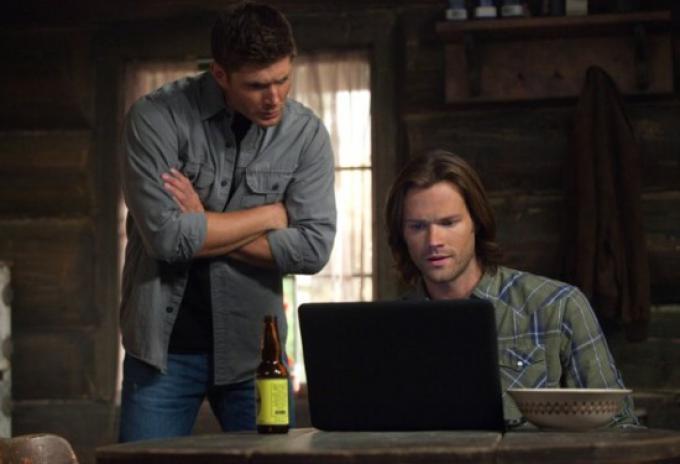 Jensen Ackles e Jared Padalecki in Supernatural