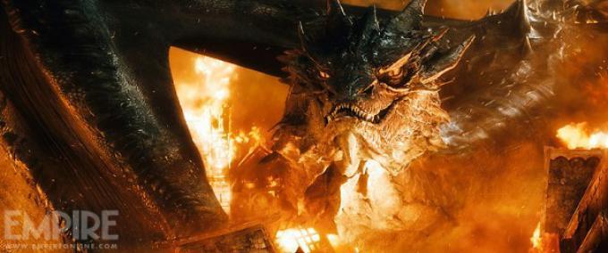 Smaug in Lo Hobbit: La battaglia delle cinque armate.