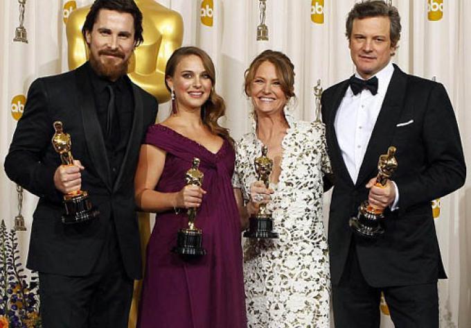 Christian Bale, Natalie Portman, Melissa Leo e Colin Firth.