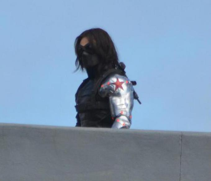 Il soldato d'inverno sul set di Captain America: The Winter Soldier