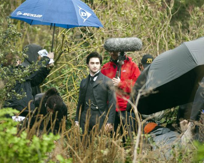 Daniel Radcliffe sul set di The Woman in Black