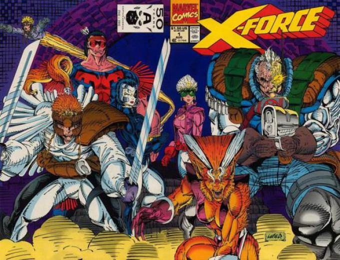 X-Force n.1, cover di Rob Liefeld