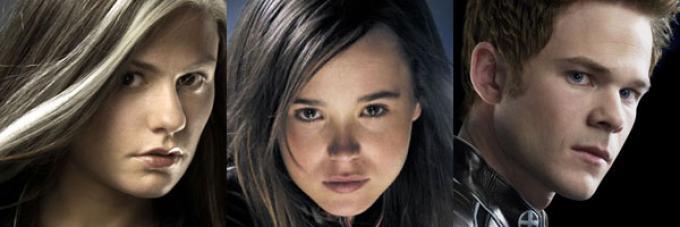 Anna Paquin, Ellen Page e Shawn Ashmore