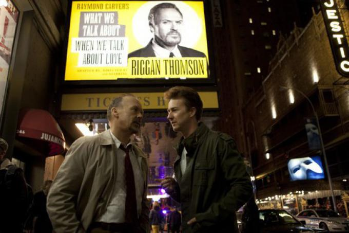 Michael Keaton ed Edward Norton