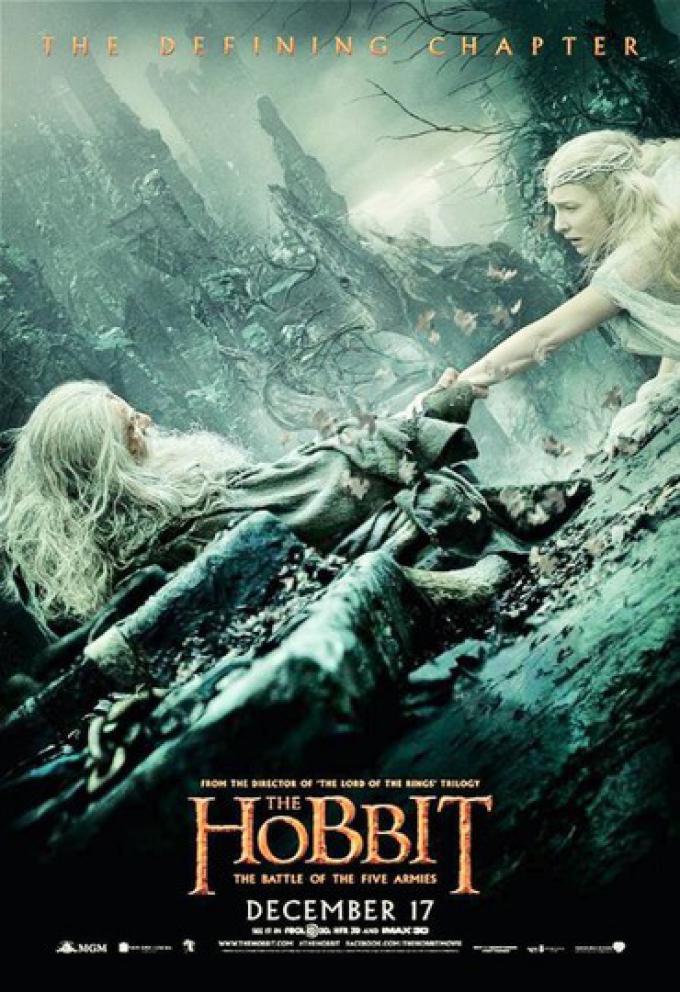 Ian McKellen (Gandalf) e Cate Blanchett (Galadriel)