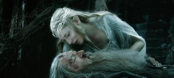 Cate Blanchett (Galadriel) e Ian McKellen (Gandalf)