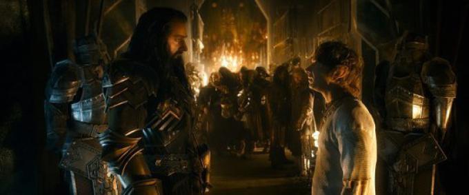 Richard Armitage (Thorin Scudodiquercia) e Martin Freeman (Bilbo Baggins)