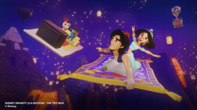 Aladdin & Jasmine toy box