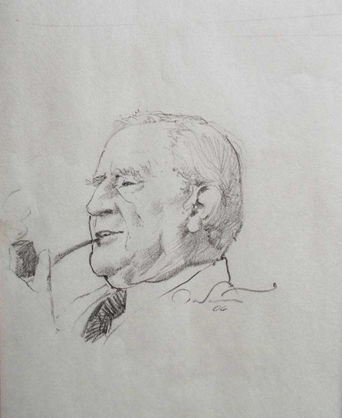 3 Ted Nasmith, Canada, Tolkien portrait, matita su carta, 19x18 cm, 2006