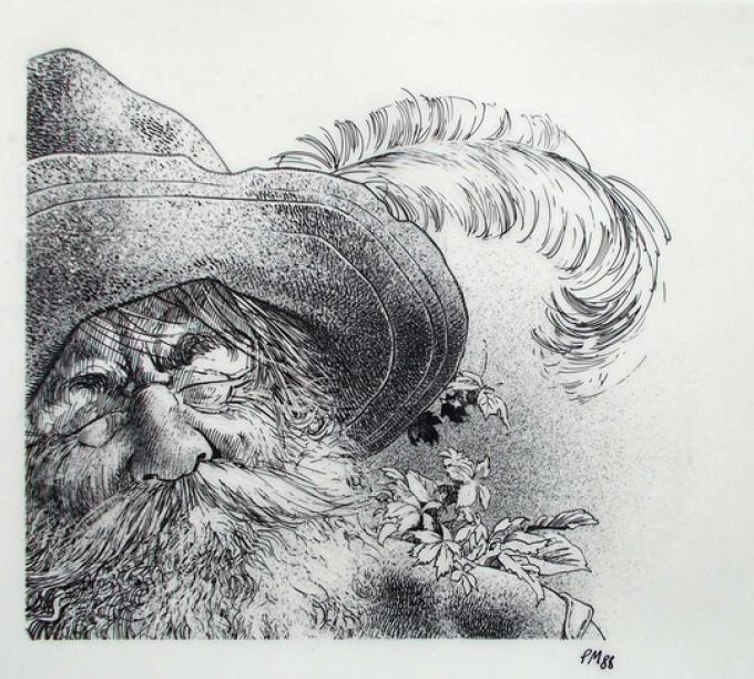 7 Philippe Munch, Francia, Tom Bombadil, china su velina, 15x18 cm, 1988