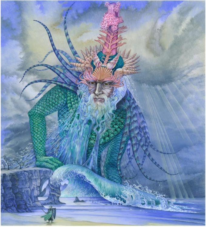 8 Roger Garland, UK, Ulmo,  Lord of the Waters, stampa su tela, Prova d'Artista, 54x48 cm, 2014